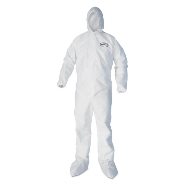 KleenGuard* A40 Coverall To-Go, Microporous Film Laminate, X-Large, White, 25/Carton