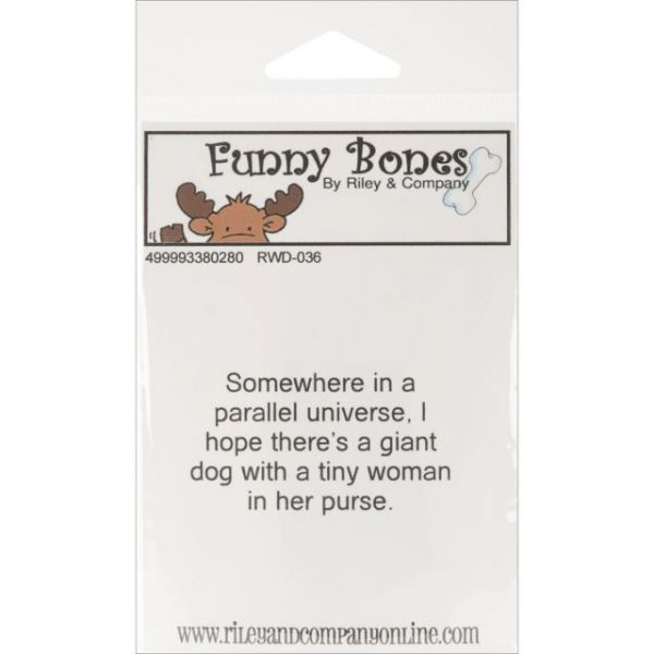 "Riley & Company Funny Bones Cling Mounted Stamp 2.25""X1.25"""