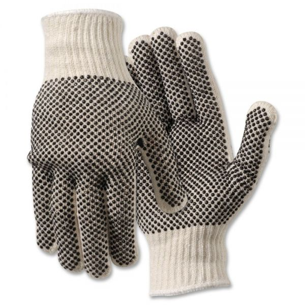 MCR Safety Poly/Cotton Large Work Gloves