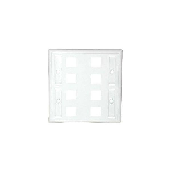 C2G 8 Socket Keystone Network/Multimedia Faceplate