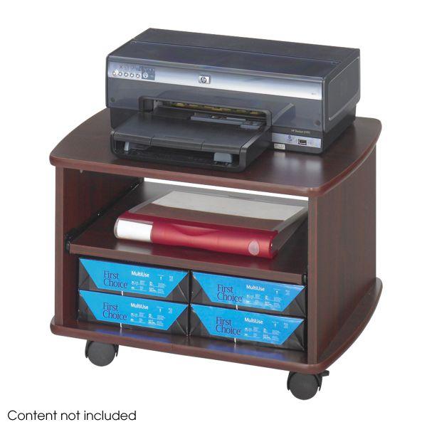 Safco Picco Printer Stand, Two Shelves, 22-1/4 x 16-1/4 x 15-1/2, Mahogany