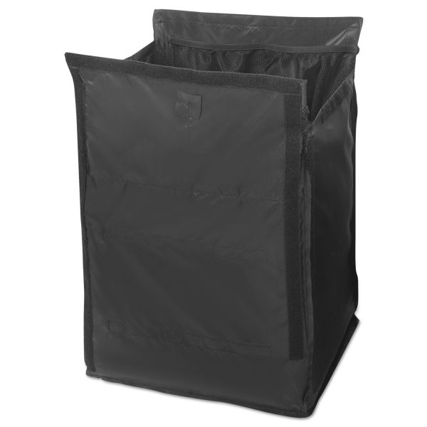 Rubbermaid Commercial Executive Quick Cart Liner, Large, 12 4/5 x 16 x 22 1/5, Black, 6/Carton