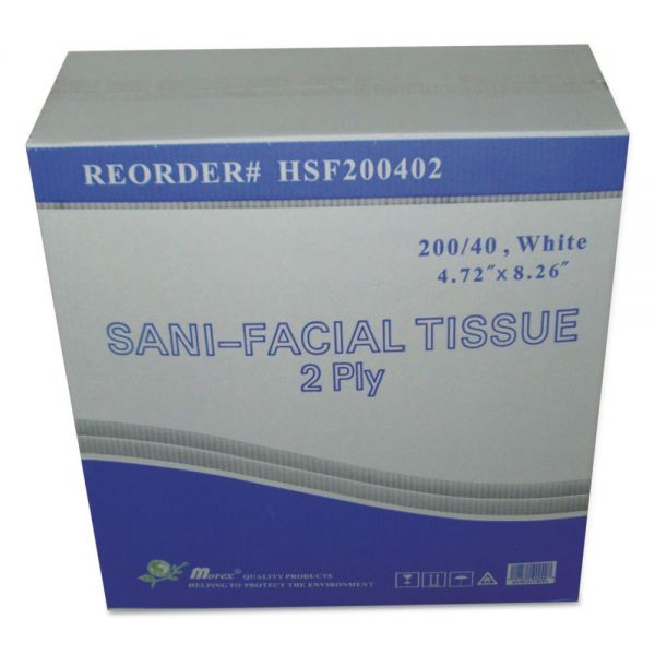 Sani 2-Ply Facial Tissues