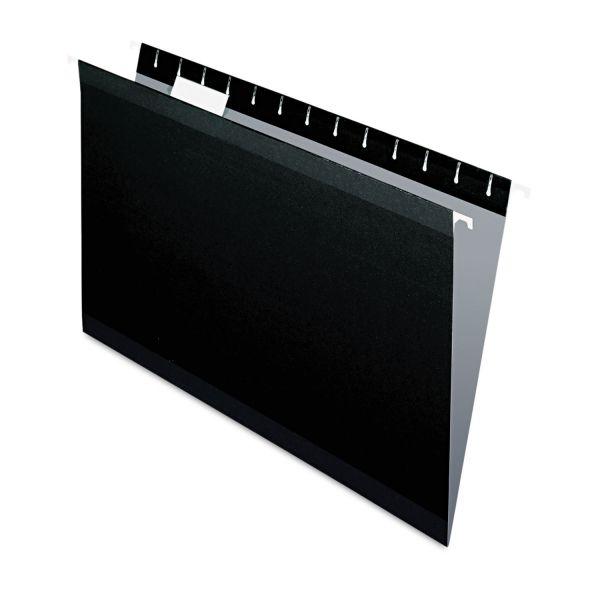 Pendaflex Reinforced Hanging Folders, 1/5 Tab, Legal, Black, 25/Box