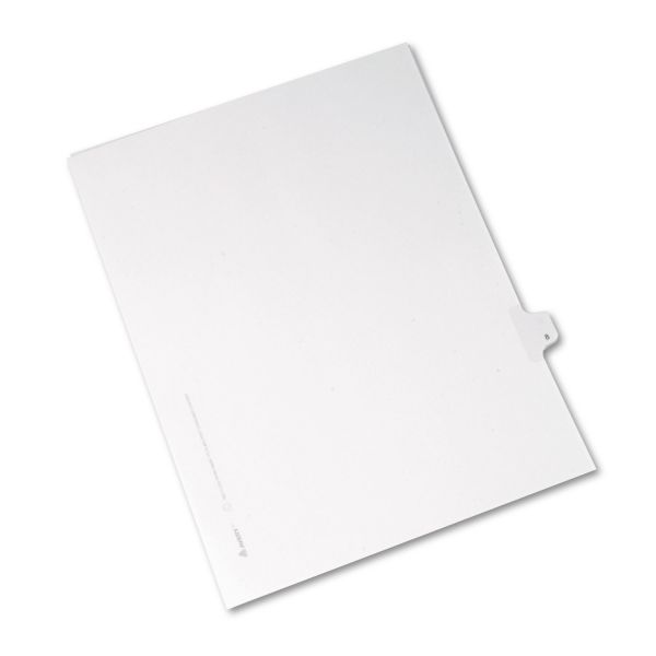 Avery Allstate-Style Legal Exhibit Side Tab Divider, Title: 8, Letter, White, 25/Pack