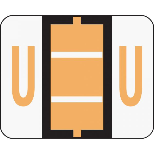 Smead BCCR Bar-Style Color-Coded Alphabetic Label - U