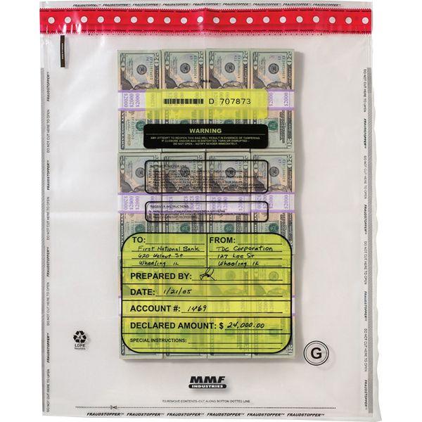 MMF Industries FraudStopper Tamper Evident Currency Bundle Bags