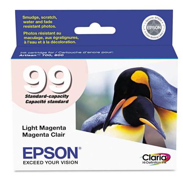 Epson T099620 (99) Claria Ink, Light Magenta