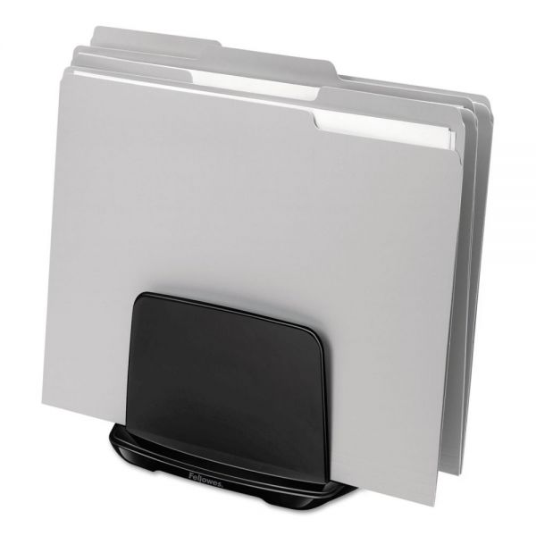 Fellowes I-Spire Series File Station, 3 Sections, 7 11/16 x 5 1/2 x 6 13/16, Black