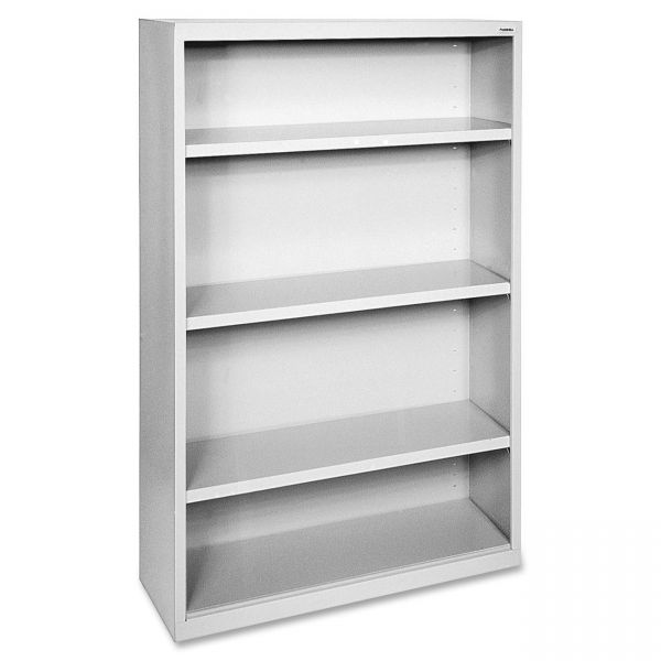 Lorell Fortress Series 4-Shelf Steel Bookcase