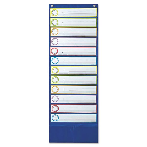 Carson-Dellosa Publishing Deluxe Scheduling Pocket Chart, 12 Pockets, 13 x 36