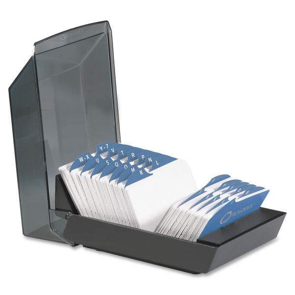Rolodex VIP Transparent Cover Card File