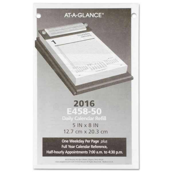 AT-A-GLANCE Pad Style Desk Calendar Refill, 5 x 8, 2018