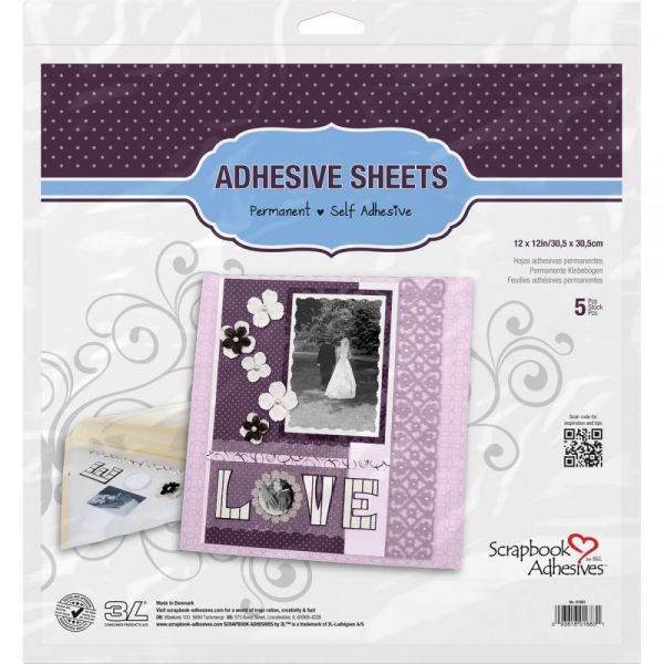 Scrapbook Adhesives Permanent Adhesive Sheets 5/Pkg