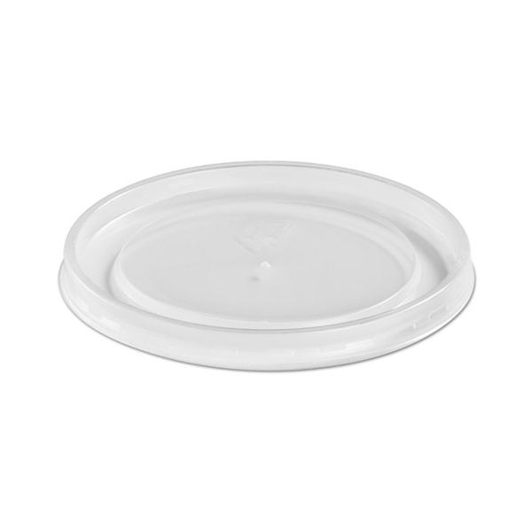 Chinet Plastic High Heat Vented Lid, Fits 16-32 oz, White, 50/Bag, 10/Bags Carton