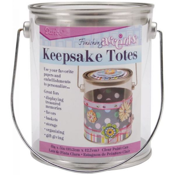 Keepsake Totes Clear Paint Can