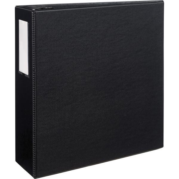 "Avery Durable 3-Ring Binder with Two Booster EZD Rings, 4"" Capacity, Black"