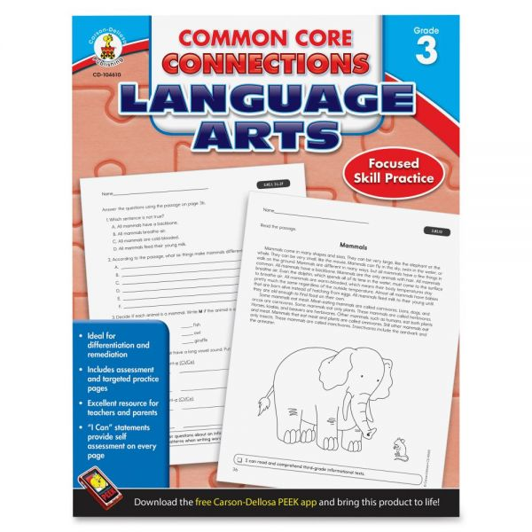 Carson-Dellosa CCC Grade 3 Language Arts Workbook Learning Printed Book for Art - English