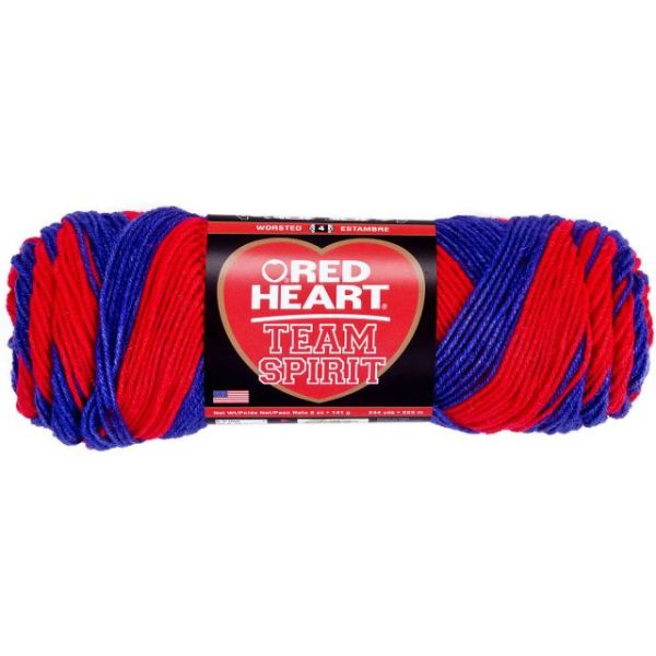 Red Heart Team Spirit Yarn - Red/Blue