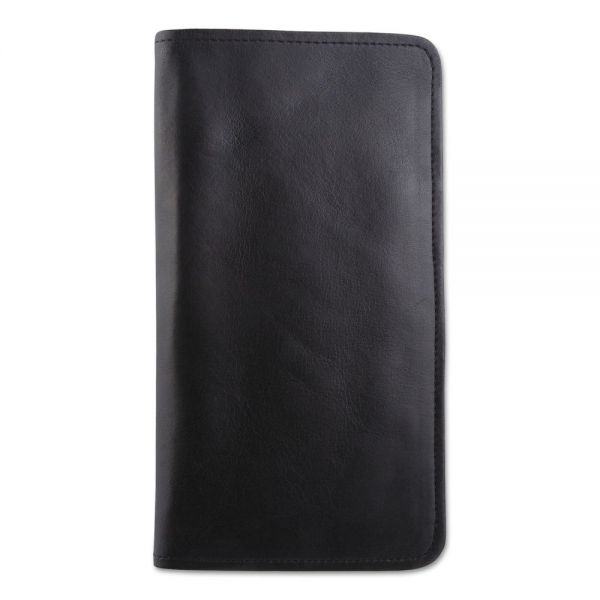 bugatti Passport/Document Holder, Black, Leather, 4 3/4 x 9