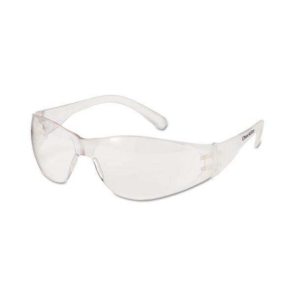 Crews Checklite Safety Glasses, Clear Frame, Clear Lens