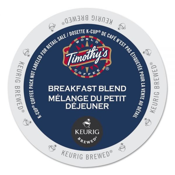 Timothy's World Coffee Breakfast Blend Coffee K-Cups, 24/Box