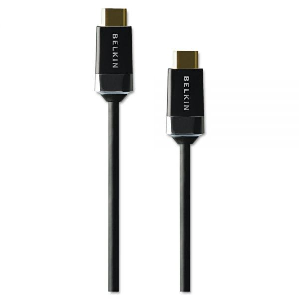 Belkin HDMI 3D Ready Cable with Ethernet, 6 ft, Black