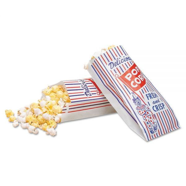 Bagcraft Papercon Pinch-Bottom Paper Popcorn Bags