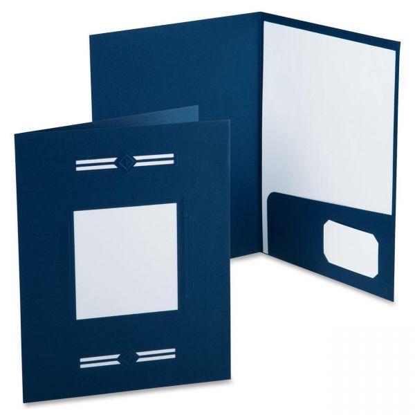 Oxford Imperial Series Laserview Business Portfolio, Premium Paper, Blue, 10/Pack