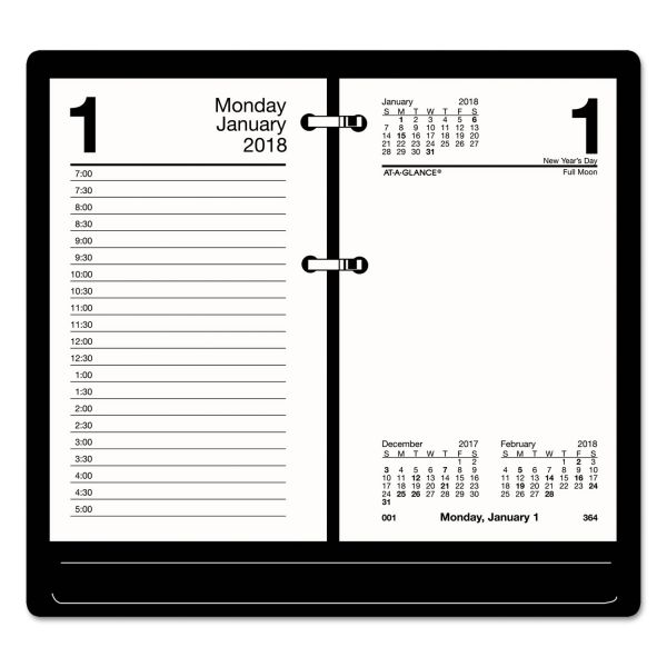 AT-A-GLANCE Recycled Desk Calendar Refill, 3 1/2 x 6, White