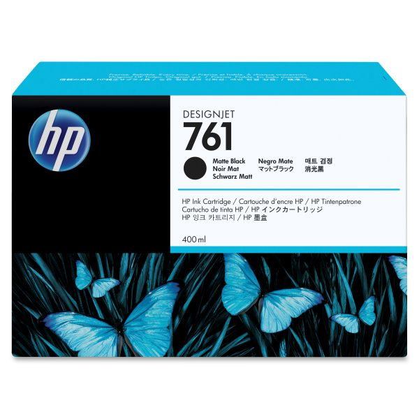 HP 761 Matte Black Ink Cartridge (CM991A)