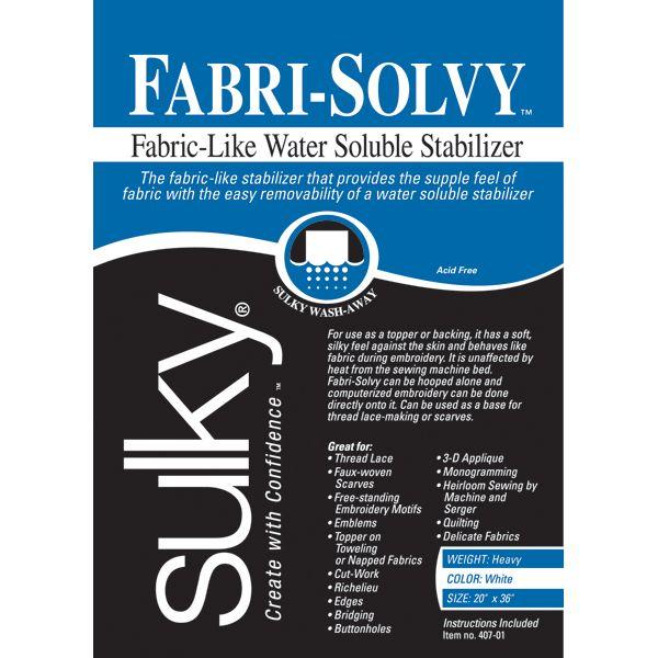 Fabri-Solvy Soluble Stabilizer