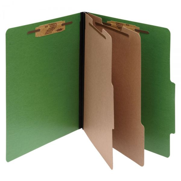 Acco ColorLife Green Presstex Classification Folders