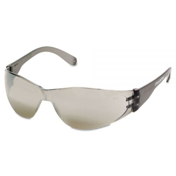Crews Checklite Safety Glasses, Silver Mirror Lens