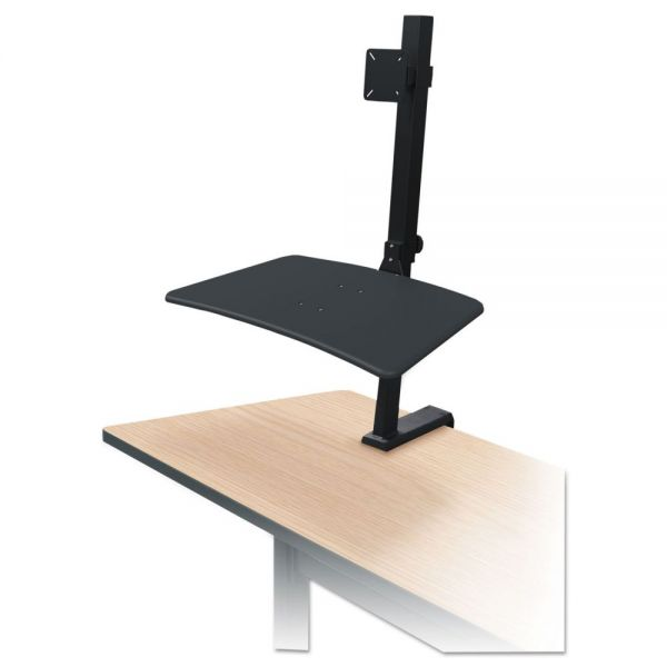 BALT Up-Rite Rear Mounted Sit-Stand Workstation, Single, 27 5/8 x 30 x 42, Black