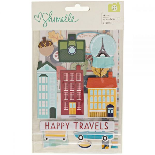 Shimelle Go Now Go Chipboard Stickers 3/Sheets
