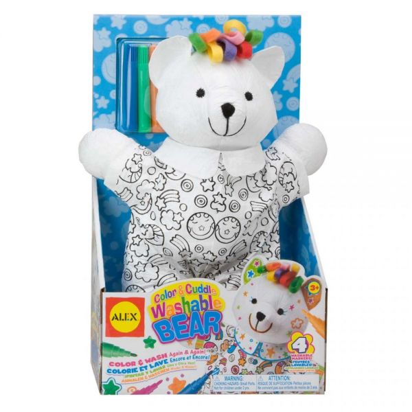ALEX Toys Color & Cuddle Washable Bear Kit