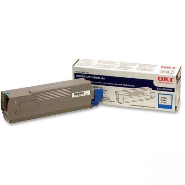 Oki 43381903 Cyan Toner Cartridge