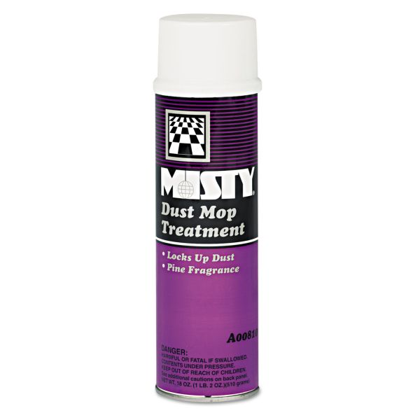 Misty Dust Mop Treatment, Pine, 20oz Aerosol, 12/Carton
