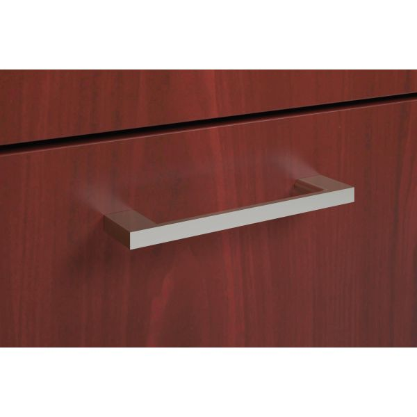 Basyx by HON BL Series Laminate Desk Polished Arch Pull