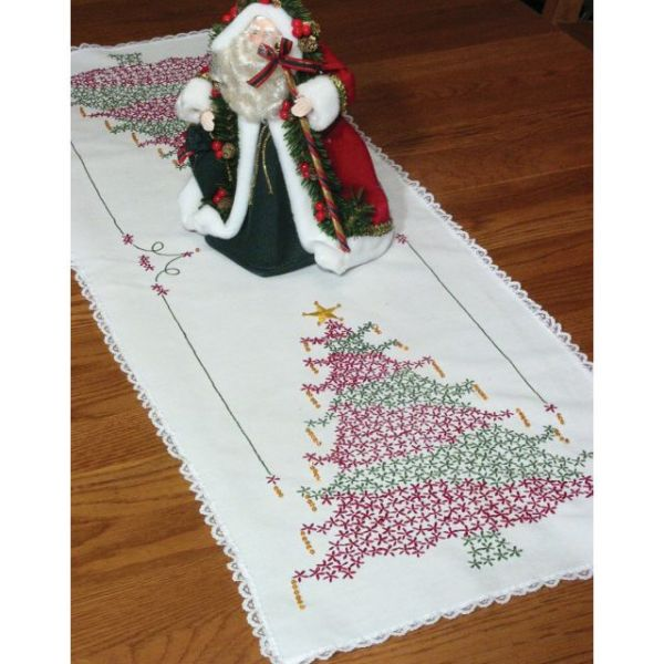 Stamped Lace Edge Table Runner