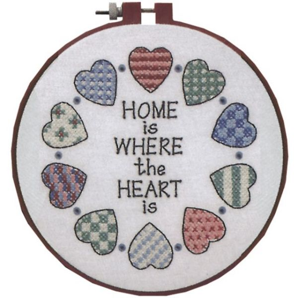 Learn-A-Craft Home And Heart Stamped Cross Stitch Kit