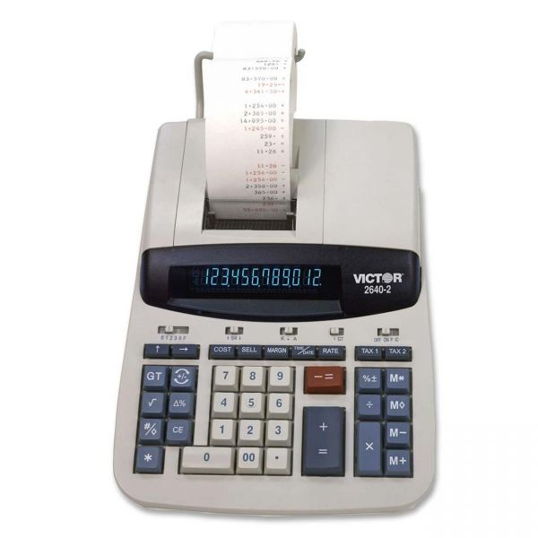 Victor 2640-2 Heavy Duty Commercial Calculator with Left Side Total and Equals Plus Logic