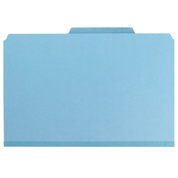 Smead 2-Divider Pressboard Classification Folders with SafeSHIELD Fasteners