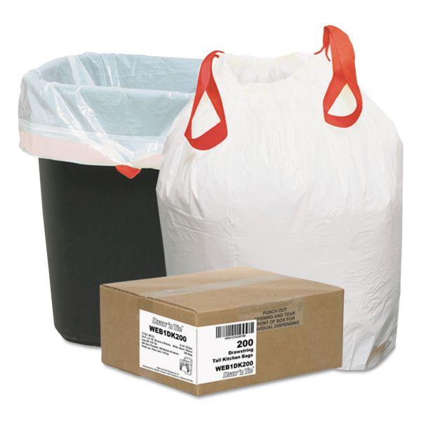 Draw'n Tie Heavy-Duty Drawstring 13 Gallon Trash Bags