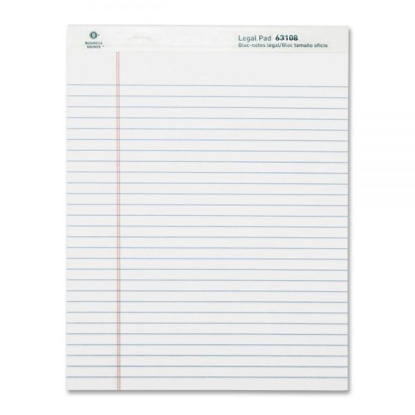 Business Source Letter-Size Legal Pads