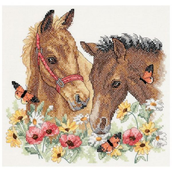 Dimensions Horse Friends Stamped Cross Stitch Kit