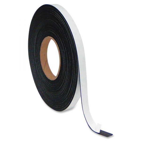 """MasterVision Magnetic Adhesive Tape Roll, Black, 1"""" x 50 Ft."""
