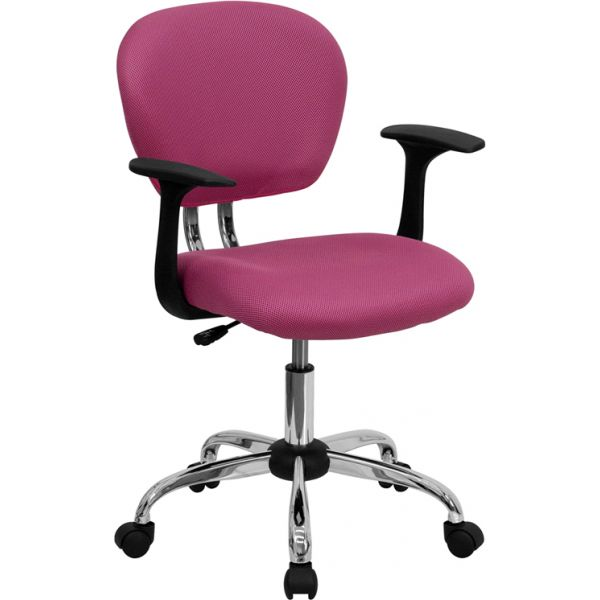 Flash Furniture Mid-Back Mesh Swivel Task Chair with Arms