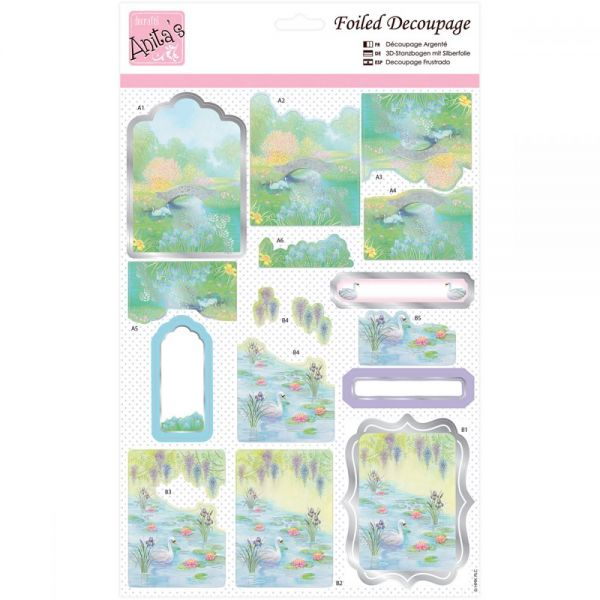 Anita's A4 Foiled Decoupage Sheet